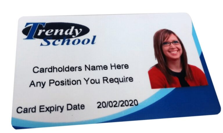 Plastic ID card Printed in Edinburgh